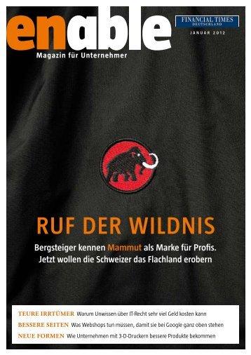 enable - Ruf der Wildnis - Financial Times Deutschland