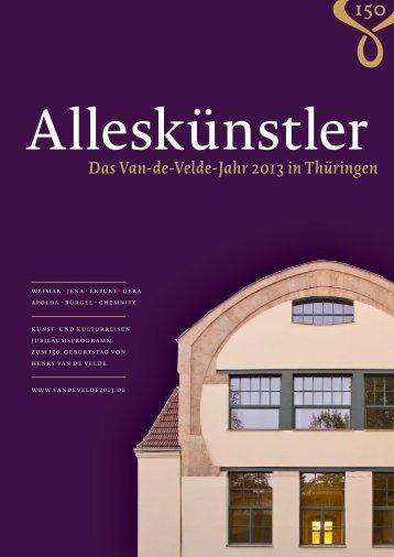 Information brochure Van de Velde 2013 - Klassik Stiftung Weimar