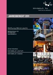 JAHRESBERICHT 2011 - Blindekuh