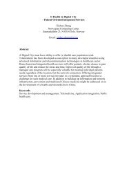E-Health in Digital City - Patient-Oriented Integrated ... - Index of