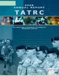 2008 Annual Report - Telemedicine & Advanced Technology ...