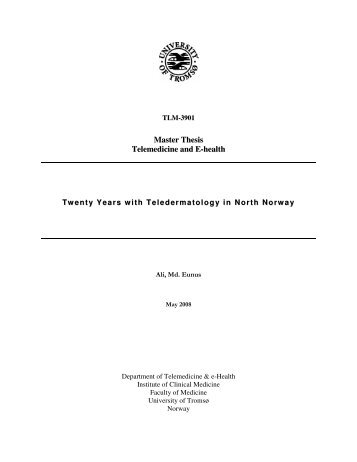 telemedicine thesis Telemedicine and ophthalmology  telemedicine is,  the application of digital satellite communications in conducting telemedicine (master's thesis),.