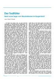 Der Todflöter Nach einer Sage vom Neusiedlersee im Burgenland