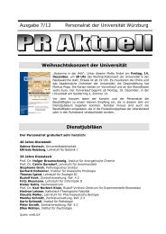 PR-Aktuell 7-2012 - Universität Würzburg