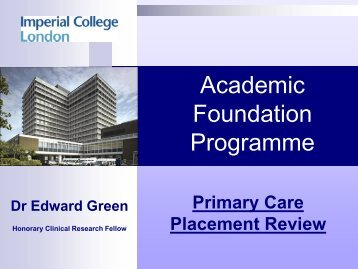 PowerPoint - Imperial College Faculty of Medicine