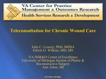 Teleconsultation for Chronic Wound Care