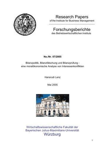 Bilanzpolitik, Bilanzfälschung und Bilanzprüfung