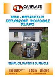 MINI - IMPIANTO DI DEPURAZIONE INDIVIDUALE ... - Canplast SA