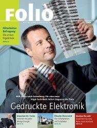 Gedruckte Elektronik - Technische Universität Chemnitz