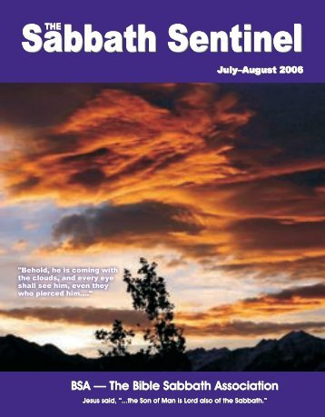 The Sabbath Sentinel - The Bible Sabbath Association