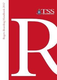 RRogers Boarding Handbook 2012 - The Southport School