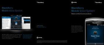 BlackBerry Mobile Voice System - Mitel