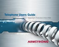 Telephone Users Guide - Armstrong