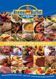 Prospekt Download - Bremer Buffet Catering GmbH