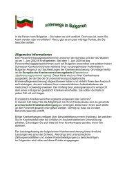 Ferien in Bulgarien - Gemeinsame Einrichtung KVG
