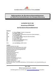 Vorlage Stellungnahmen - Bundesrechtsanwaltskammer