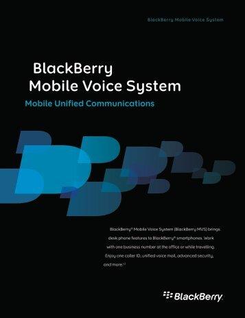 BlackBerry Mobile Voice System