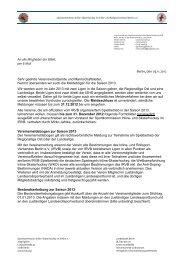 An alle Mitglieder der BISHL per E-Mail Berlin, den 29.11.2012 Sehr ...