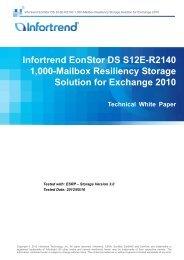 Infortrend EonStor DS S12E-R2140 1,000-Mailbox Resiliency ...