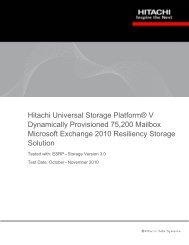 Hitachi USP V Dynamically Provisioned 75200 Mailbox Microsoft ...