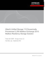 Hitachi Unified Storage 110 Dynamically Provisioned 2200 Mailbox ...