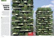 Vertikaler Wald für Mailand - Baublatt