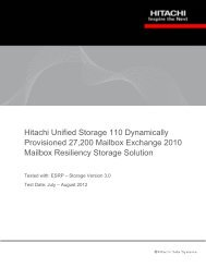 Hitachi Unified Storage 110 Dynamically Provisioned 27,200 ...