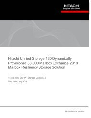 Hitachi Unified Storage 130 Dynamically Provisioned 36,000 ...