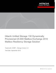 Hitachi Unified Storage 130 Dynamically Provisioned 20,800 ...