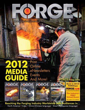 2012 Media Guide - FORGE Magazine