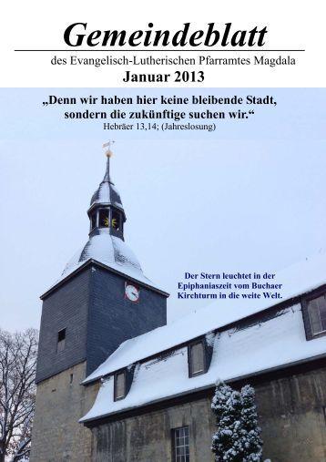 Gemeindeblatt Januar 2013.pub - Kirchspiel Magdala/Bucha