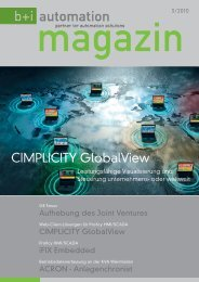 CIMPLICITY GlobalView - b+i automation