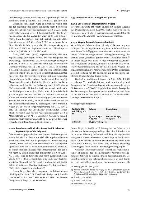 steueranwalts magazin - Steuerrecht
