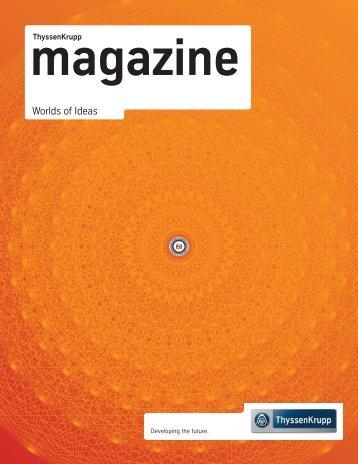 """ThyssenKrupp magazine """"Worlds of Ideas"""" (PDF ... - ThyssenKrupp AG"""