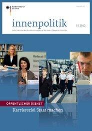 Magazin innenpolitik, Ausgabe 3/2012 - des Bundesministerium des ...