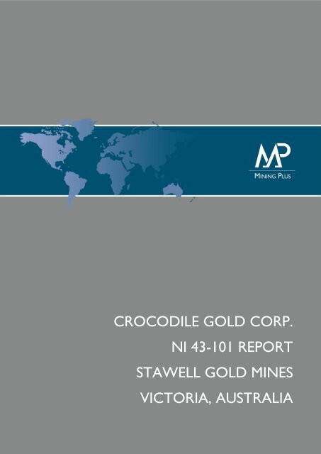 crocodile gold corp  ni 43-101 report stawell gold mines