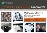 Cortal Consors Magazin 2013 Mediadaten - WDV Gesellschaft für ...