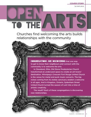 Open to the Arts | Mandate Magazine, November 2012 Issue