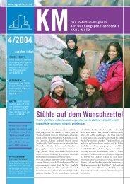 KM Magazin 4/2004 - Wohnungsgenossenschaft