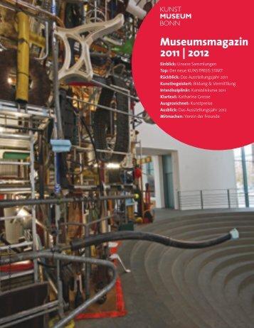 Museumsmagazin 2011 | 2012 - Kunstmuseum Bonn