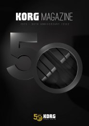 Korg Magazine 2013 - 50th Anniversary Edition