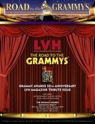 GRAMMY AWARDS 55th ANNIVERSARY LVh MAGAZINE tRIBUtE ...