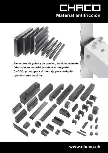 Materiales antifricción original CHACO