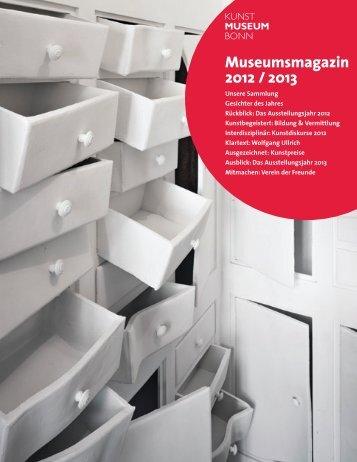 Museumsmagazin 2012 / 2013 - Kunstmuseum Bonn