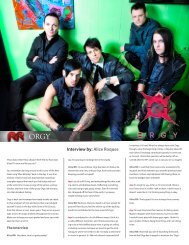 Interview by: Alice Roques - Rock Revolt Magazine