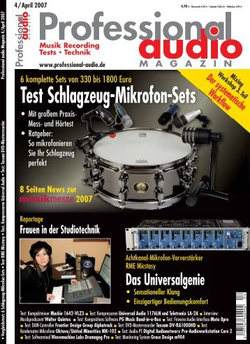 Test Schlagzeug-Mikrofon-Sets - Drumagog Drum Replacer Plug-In