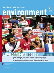 Magazin «environment» 4/09 - International environmental policy