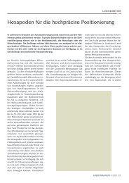 Hexapoden für die hochpräzise Positionierung - Laser Magazin