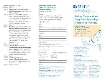 Healing Communities - Massachusetts School of Professional ...