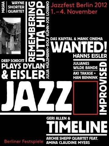 Magazin Jazzfest Berlin 2012 [PDF, 6,5 MB - Berliner Festspiele